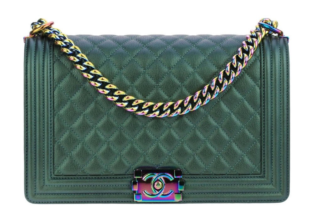 Chanel 101 The Boy Flap Iridescent