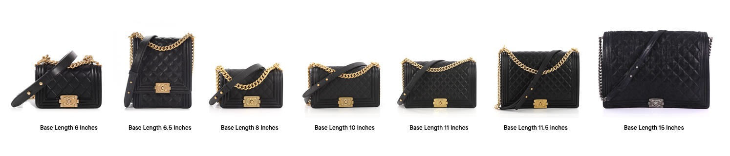 Chanel Boy Bag 101 Sizing Reference