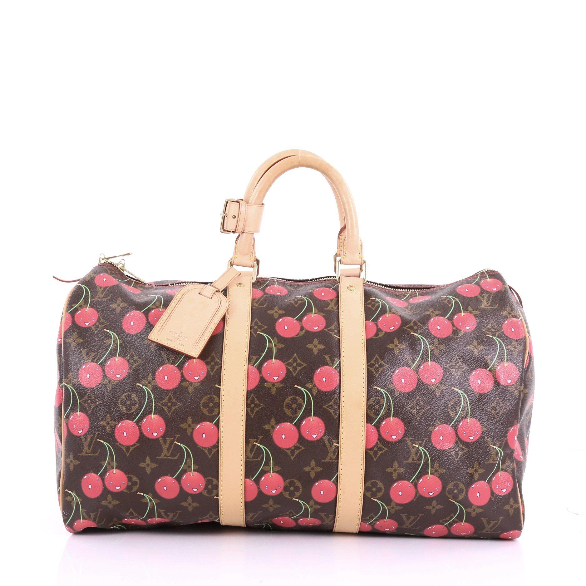 Louis Vuitton Keepall Bag Cerises