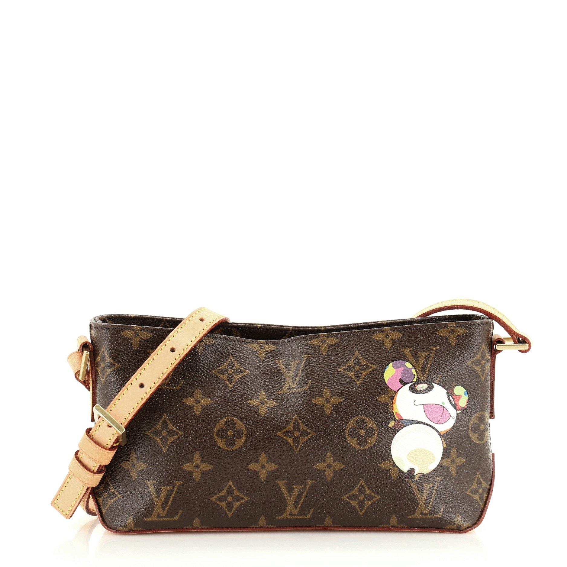 Louis Vuitton Trotteur Handbag Monogram Murakami Panda