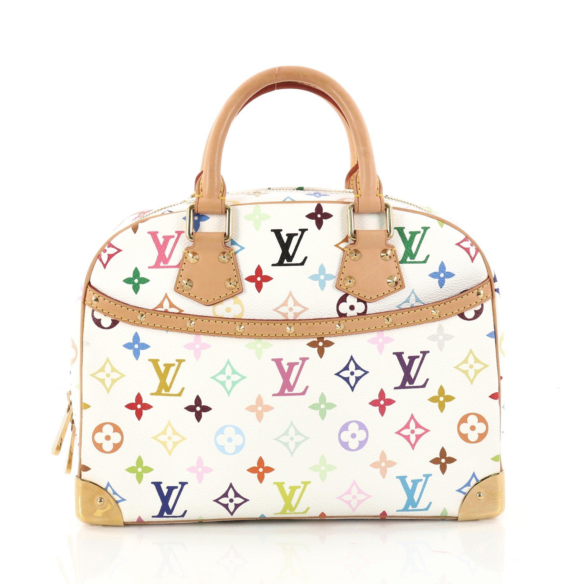 Louis Vuitton Trouville Handbag Monogram Multicolor