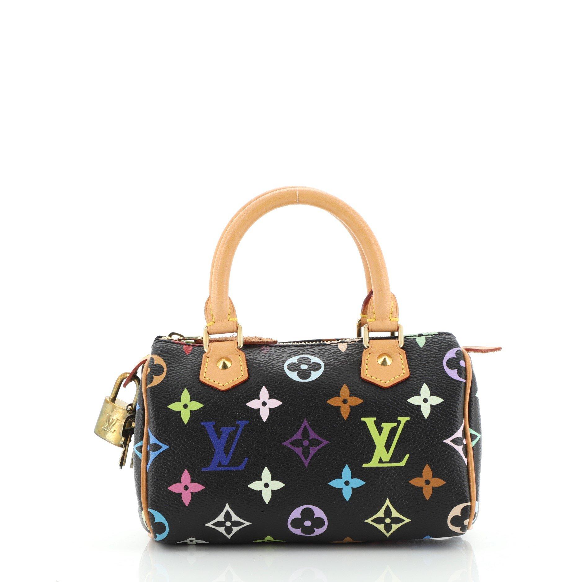 Louis Vuitton Speedy Mini HL Handbag Monogram Multicolor