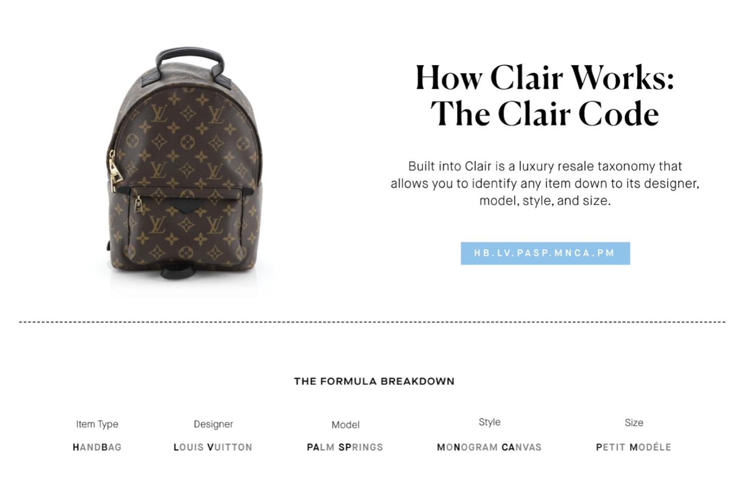 Clair by Rebag Clair Codes