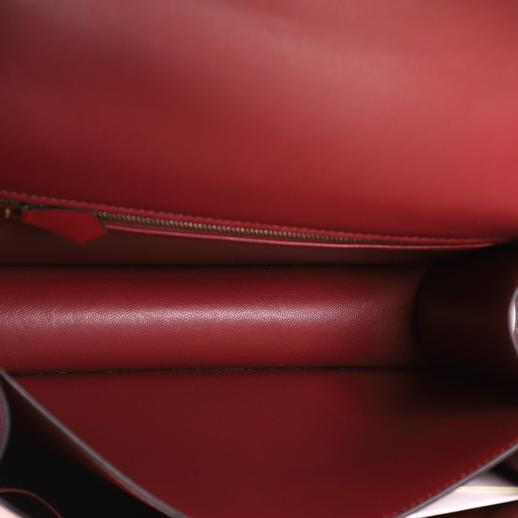 Hermes Rouge H Agneau leather