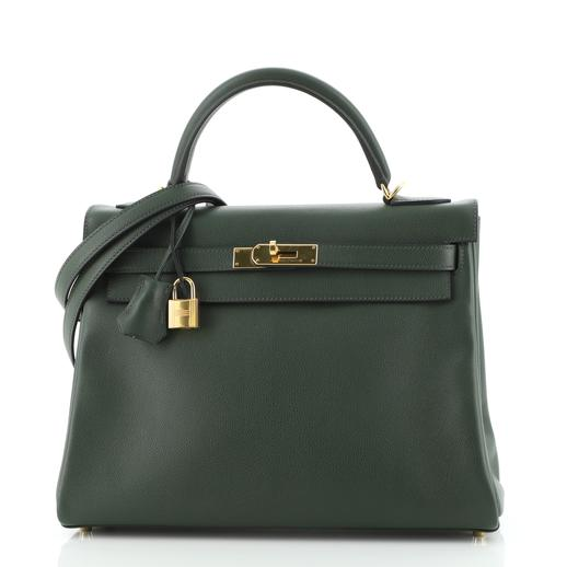 Hermes Vert Anglais Evercolor Leather