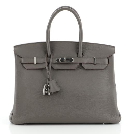 Hermes Etain Clemence Leather