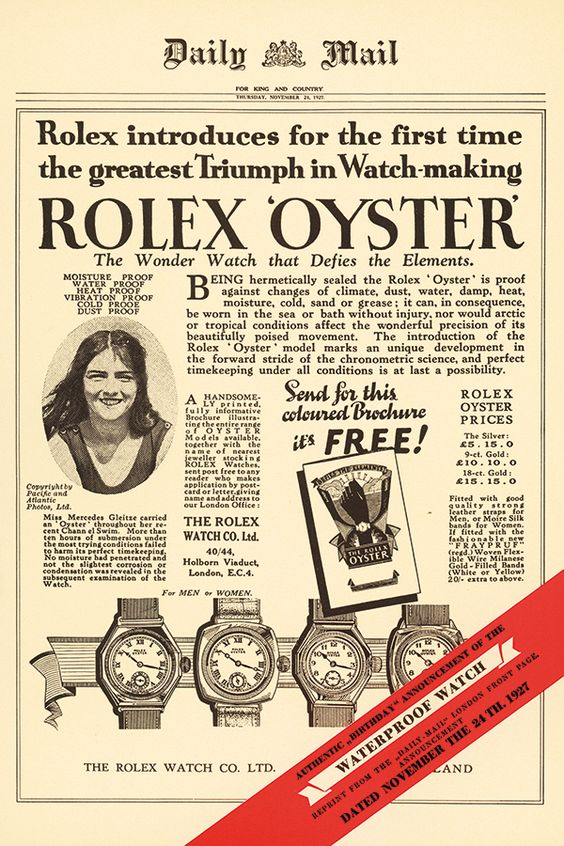 """""""Rolex Oyster Daily Mail Ad"""
