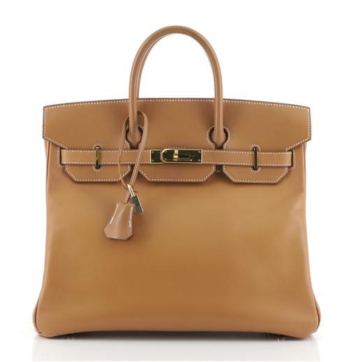 Hermes HAC Birkin Bag Natural Vache Natural with Gold Hardware 32