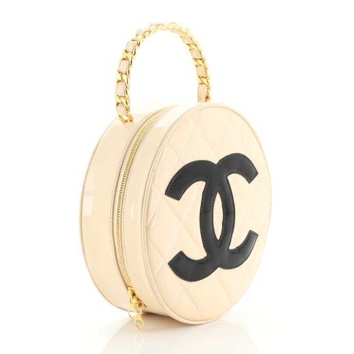 Chanel Round Top Handle Vanity Case