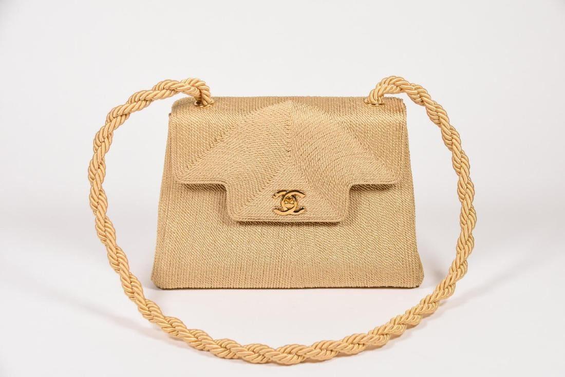 Chanel Silk Rope Shoulder Flap Bag