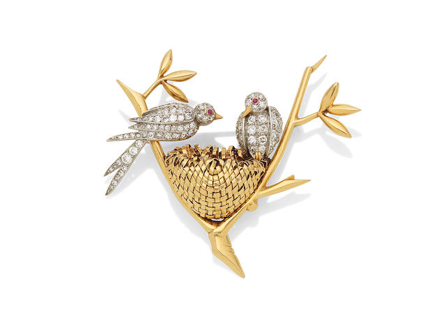 Love Birds Brooch