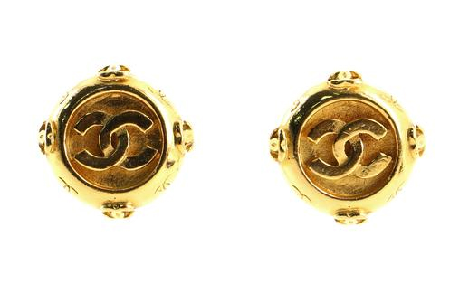 Chanel Medallion Clip On Earrings