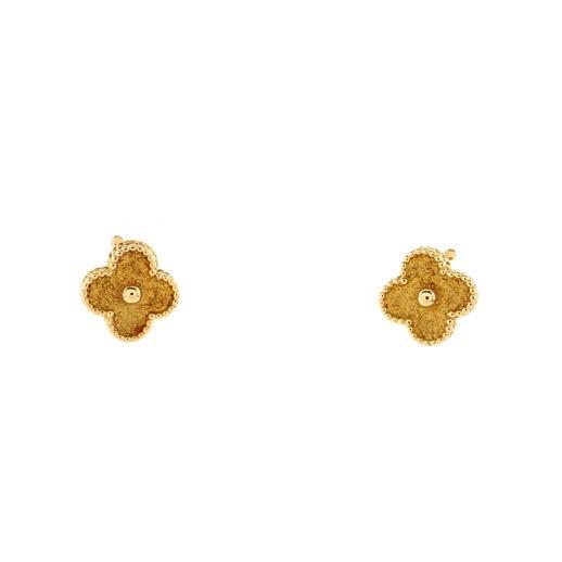 Vintage Alhambra Earrings 18K Yellow Gold