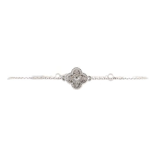 Sweet Alhambra Bracelet 18K White Gold and Diamonds