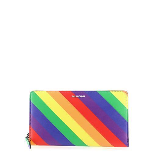 Balenciaga Rainbow Ville Continental Zip Around Wallet