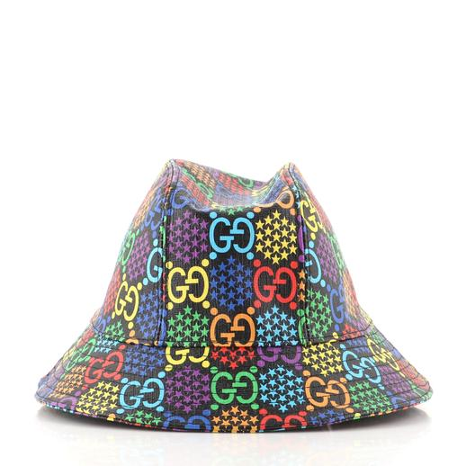 Gucci Bucket Hat Psychedelic Print GG Coated Canvas Large