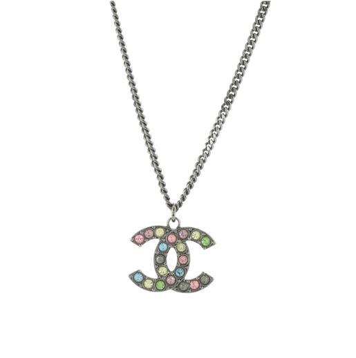 Chanel Rainbow CC Pendant Necklace