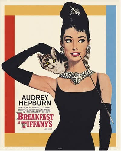 Audrey Hepburn in the Breakfast at Tiffany's poster
