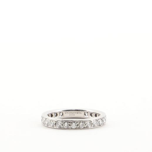 Legacy Band Ring in Platinum with Diamonds