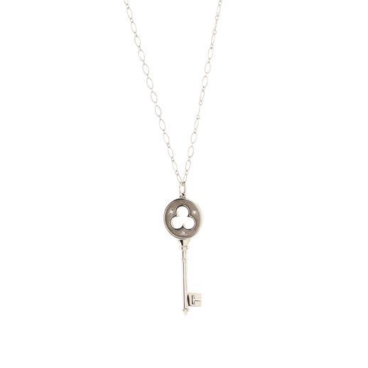 Clover Key Pendant Necklace