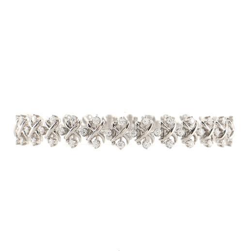 Schlumberger Lynn Bracelet in Platinum with Diamonds