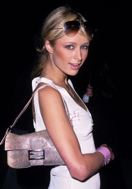 Paris Hilton with a Fendi Baguette in the early 2000s.