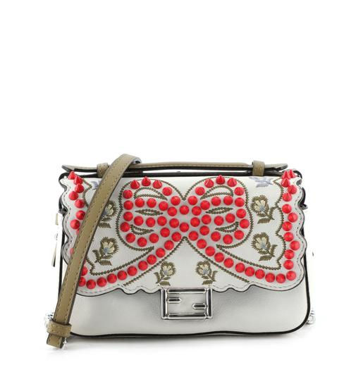 Double Baguette Embroidered Studded Leather Micro