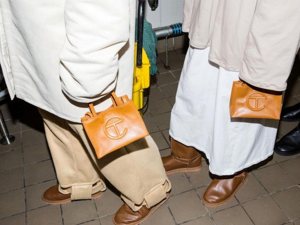 Small Telfar Shopping Bags in tan