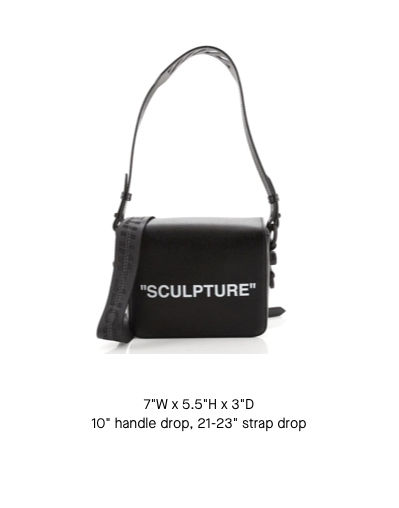 Off-White Binder Clip Flap Bag Small
