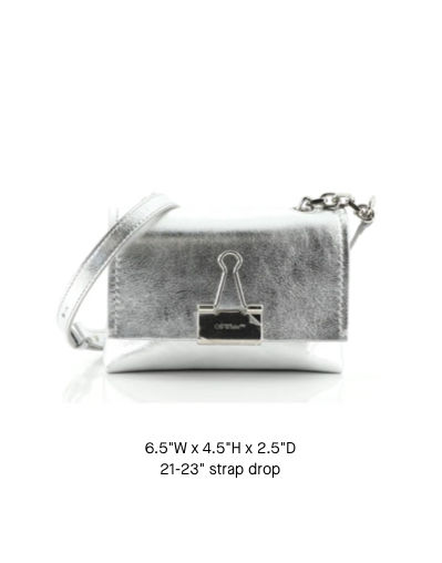 Off-White Binder Clip Chain Flap Bag Small
